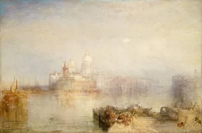 Venetian Architecture Painting - The Dogana And Santa Maria Della Salute, Venice by Joseph Mallord William Turner