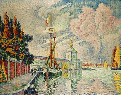 Pointillistic Painting - The Dogana by Paul Signac