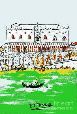 Art Print featuring the painting The Doge's Palace by Loredana Messina