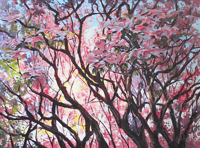 Painting - The Dogwood Tree by Karen Ilari