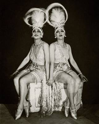 The Two Sisters Photograph - The Dolly Sisters by James Abbe