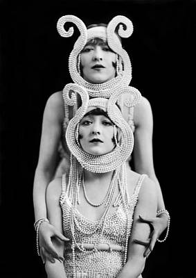 The Dolly Sisters Art Print by Underwood Archives