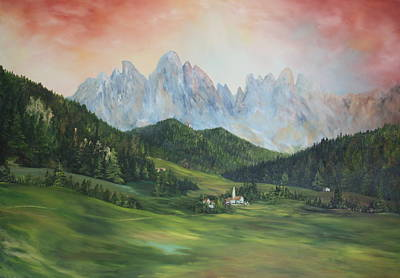 The Dolomites Italy Art Print