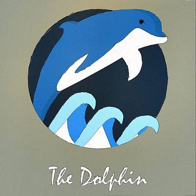 Dolphin Digital Art - The Dolphin Cute Portrait by Florian Rodarte