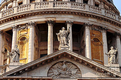 Photograph - The Dome Of St Paul's Cathedral by MaryJane Armstrong