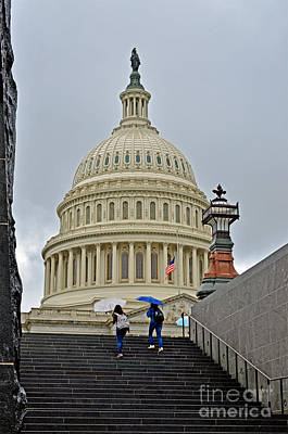 Photograph - The Dome Of The United States Capitol by Jim Fitzpatrick