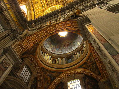 Photograph - The Dome St Peter's Vatican City by Alan Lakin