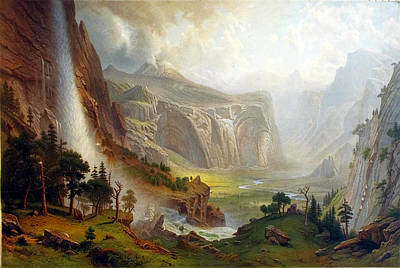Dome Painting - The Domes Of The Yosemite by Albert Bierstadt