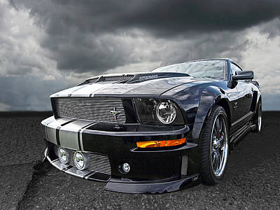 Ford Mustang Racing Photograph - The Dominator - Cervini Mustang by Gill Billington