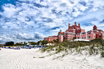 St. Pete Beach Photograph - The Don Cesar Hotel by Bill Cannon