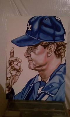 Matt Kemp Painting - The Don's Call by Lynde Washington