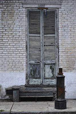 Photograph - The Door And The Hitching Post by Nadalyn Larsen