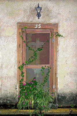 The Door At 35 Spanish Street Art Print by Rebecca Korpita