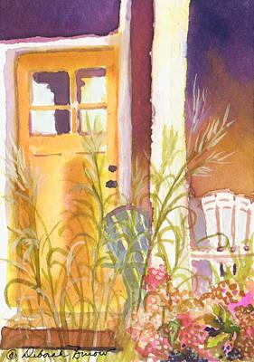 The Door Step Porch Art Print by Deborah Burow