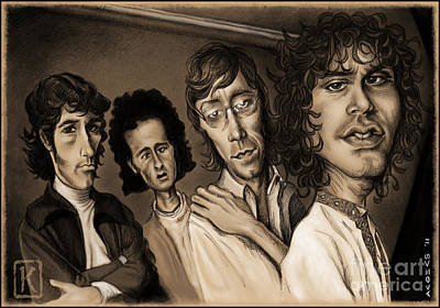 The Doors Drawing - The Doors by Andre Koekemoer