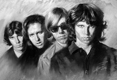 Drawing - The Doors by Viola El
