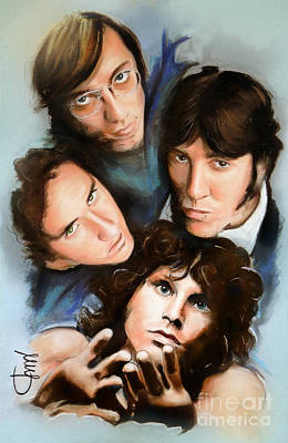 Ray Mixed Media - The Doors by Melanie D