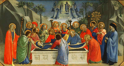 Religious Artist Painting - The Dormition Of The Virgin by Fra Angelico