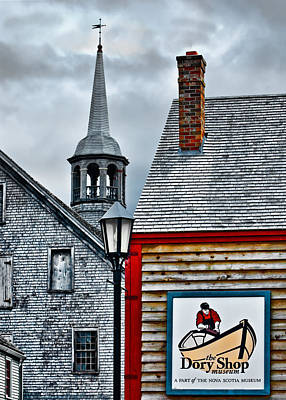 Photograph - The Dory Shop In Shelburne Nova Scotia by Ginger Wakem
