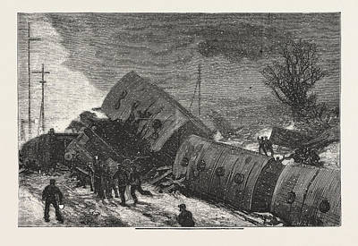 Final Drawing - The Double Collision On The Great Northern Railway by English School