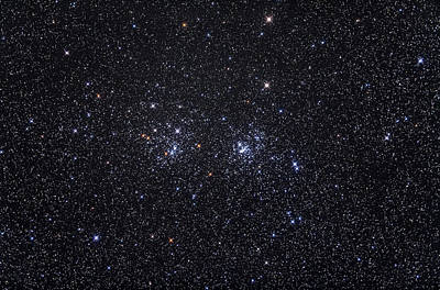 The Double Star Cluster Ngc 869 & Ngc Art Print by Alan Dyer