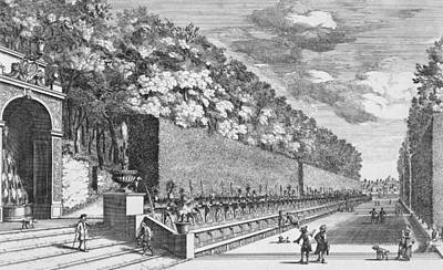 Garden Drawing - The Double Terrace Of One Hundred Fountains by Giovanni Battista Falda