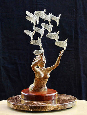 Figural Mixed Media - The Dove Maiden 2 by Dan Redmon