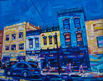 The Downtown Art Print