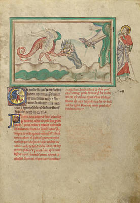 The Dragon Hurls Water After The Woman Clothed In The Sun Art Print