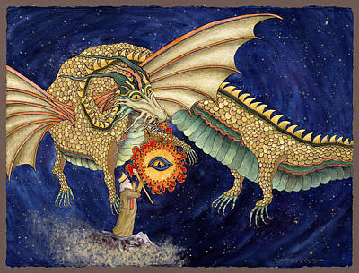 Painting - The Dragon King by Lynda Hoffman-Snodgrass