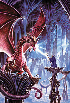 The Dragons Lair Art Print by Steve Crisp