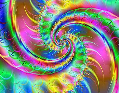Digita Art Digital Art - The Dragon's Tail by Ester  Rogers