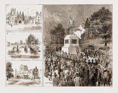 Drake Drawing - The Drake Commemoration At Tavistock, Devonshire by Litz Collection