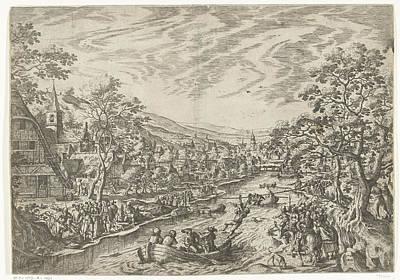 The Draw For The Goose, Print Maker Hans Bol Art Print