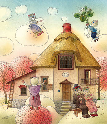 Painting - The Dream Cat 05 by Kestutis Kasparavicius