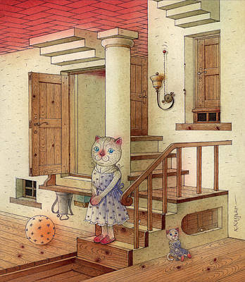 Painting - The Dream Cat 06 by Kestutis Kasparavicius