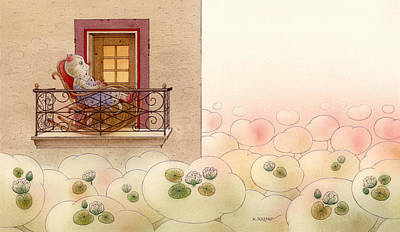 Painting - The Dream Cat 09 by Kestutis Kasparavicius