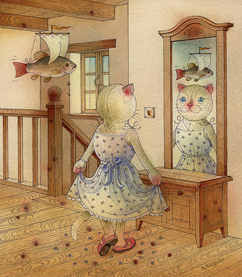 The Dream Cat 11 Art Print by Kestutis Kasparavicius