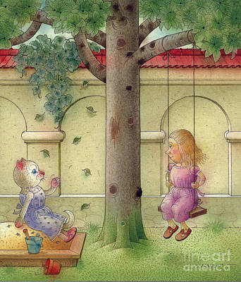 Painting - The Dream Cat 14 by Kestutis Kasparavicius