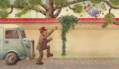 Painting - The Dream Cat 15 by Kestutis Kasparavicius