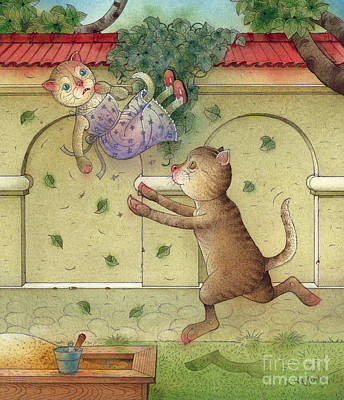Painting - The Dream Cat 16 by Kestutis Kasparavicius