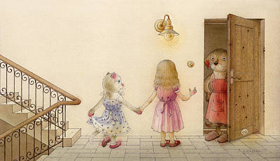 Painting - The Dream Cat 18 by Kestutis Kasparavicius