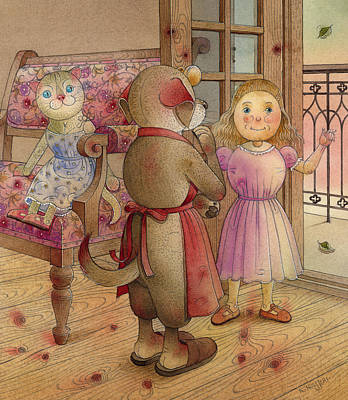 Painting - The Dream Cat 23 by Kestutis Kasparavicius