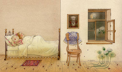 Painting - The Dream Cat 26 by Kestutis Kasparavicius