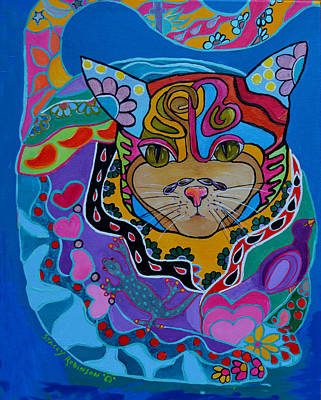 Painting - The Dream Cat by Stacey Robinson