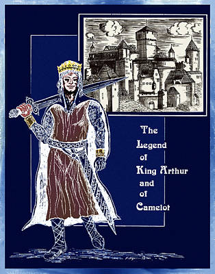 Camelot Drawing - The Dream Of King Arthur by Hartmut Jager