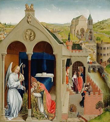 The Dream Of Pope Sergius Art Print by Rogier van der Weyden