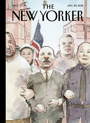 Police Painting - The Dream Of Reconciliation by Barry Blitt