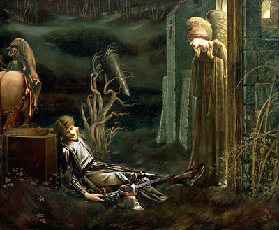 Mist Painting - The Dream Of Sir Lancelot At The Chapel by Sir Edward Coley Burne-Jones