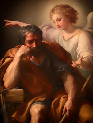The Dream Of St Joseph Art Print by Mountain Dreams